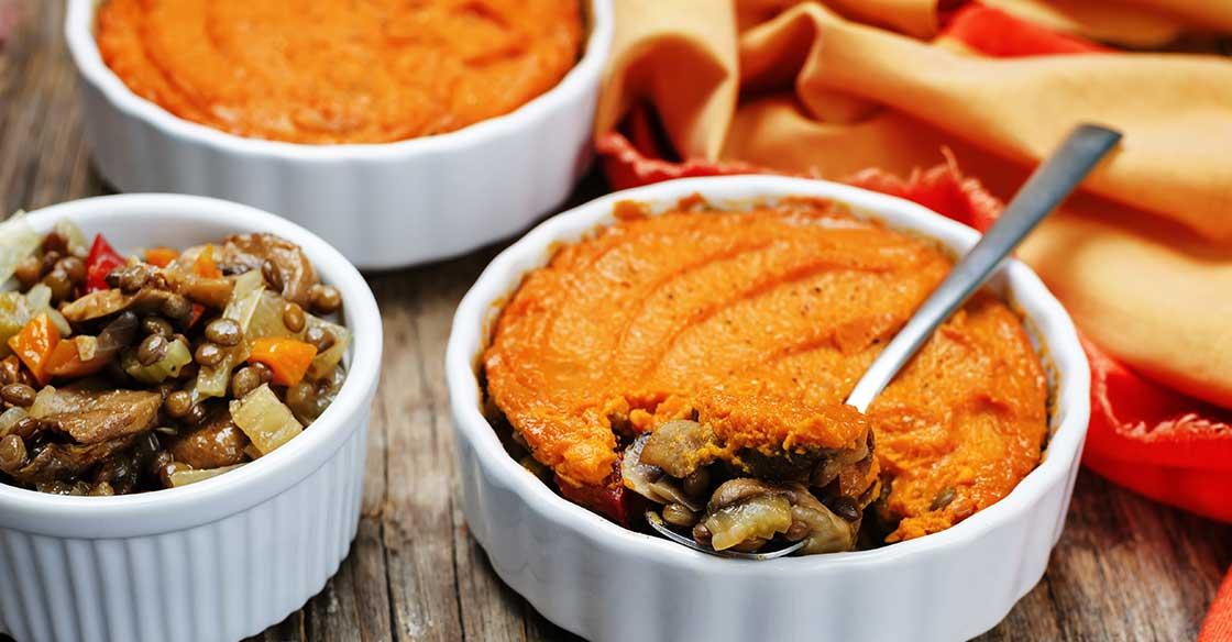 Recette Minceur : Parmentier de Lentilles et Patates Douces
