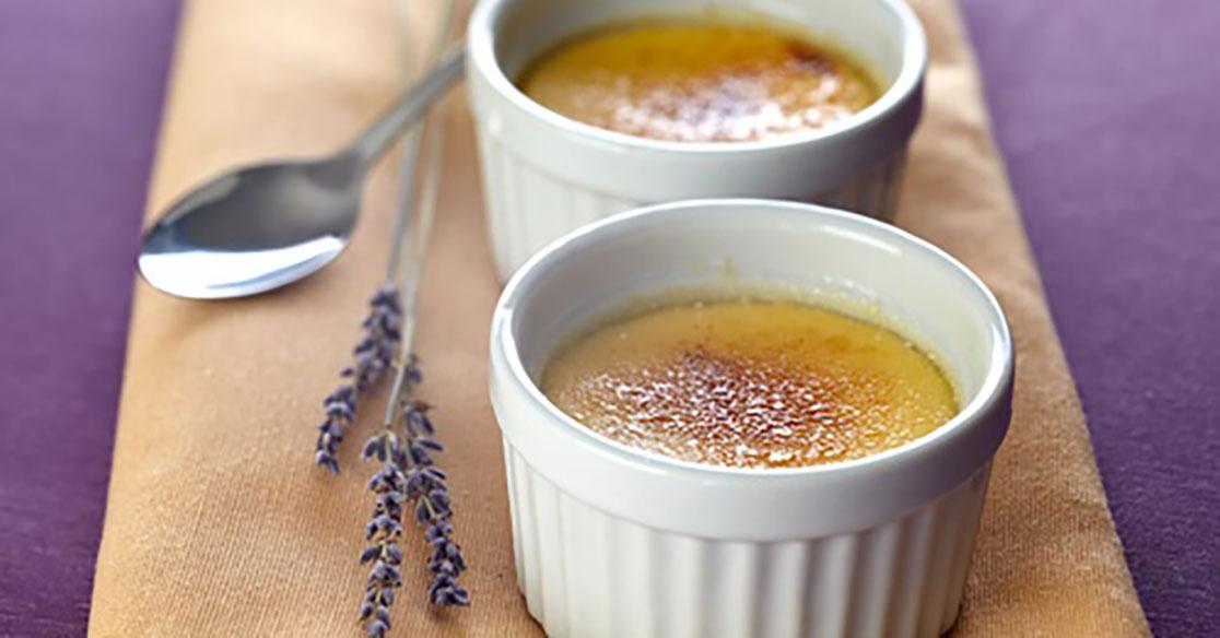 Recette Minceur : Crème Brûlée à la Lavande