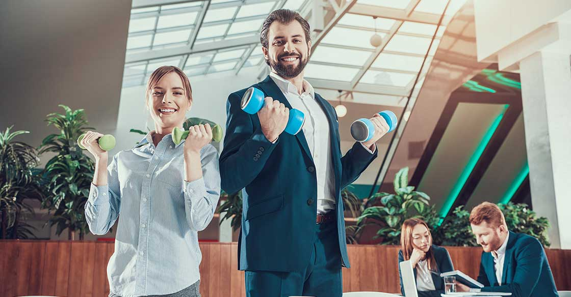 Faire de l'exercice au travail